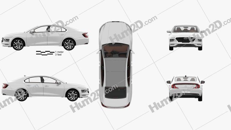 Hyundai Mistra with HQ interior 2020 Clipart Image