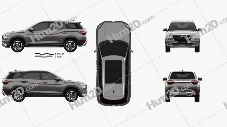 Hyundai Alcazar 2021 car clipart