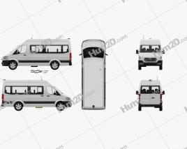 Hyundai H350 Passenger Van with HQ interior 2015 clipart