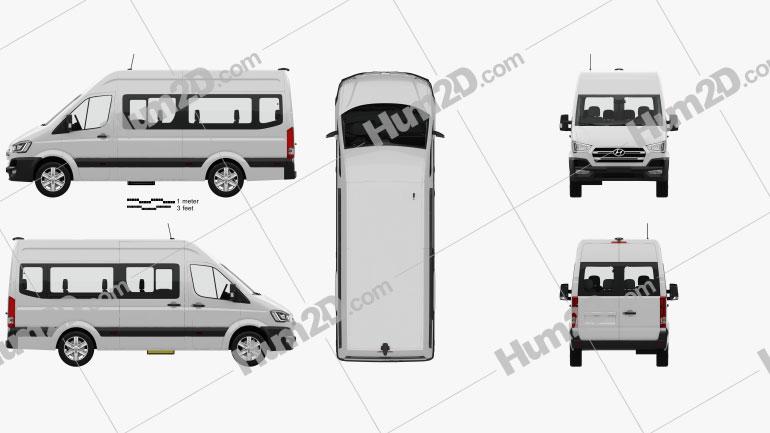 Hyundai H350 Passenger Van mit HD Innenraum 2015 clipart