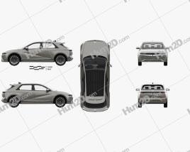 Hyundai Ioniq 5 with HQ interior 2022 car clipart