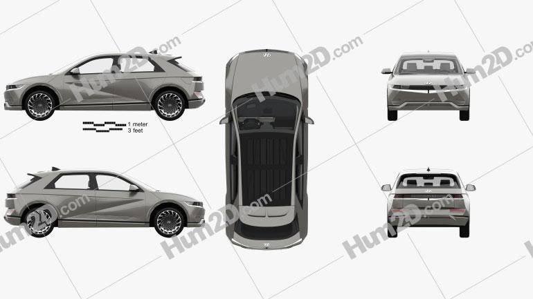 Hyundai Ioniq 5 mit HD Innenraum 2022 car clipart