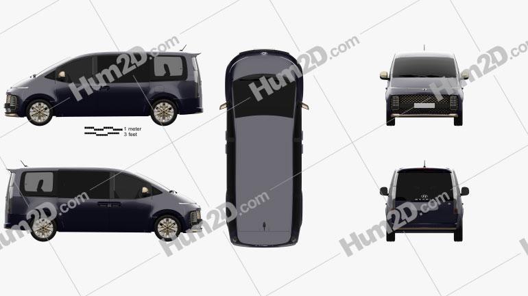 Hyundai Staria Premium 2021 clipart