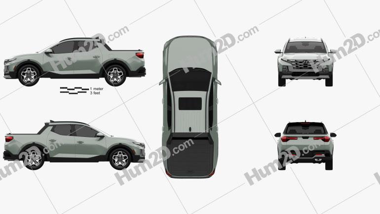 Hyundai Santa Cruz 2022 car clipart
