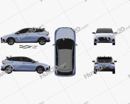 Hyundai i20 N 2020 car clipart