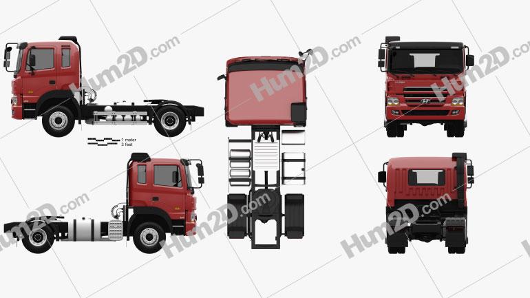 Hyundai Trago Tractor Truck 2-axle 2008 clipart