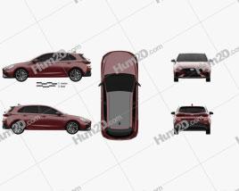 Hyundai i30 N-Line hatchback 2020 car clipart