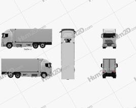 Hyundai Xcient FCEV Box Truck 2020 clipart