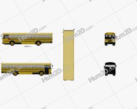 IC FE School Bus 2006 clipart