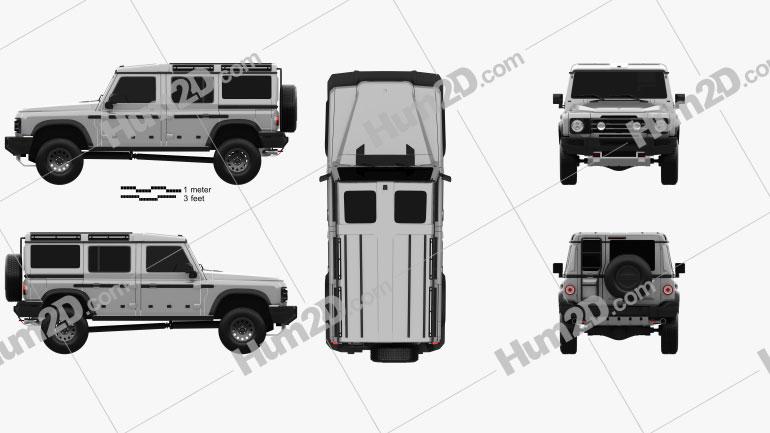 Ineos Grenadier 2021 car clipart