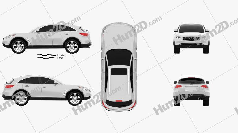 Infiniti FX (S51) 2008 car clipart