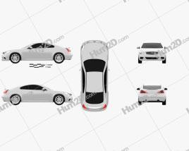 Infiniti Q60 (G37) Coupe car clipart