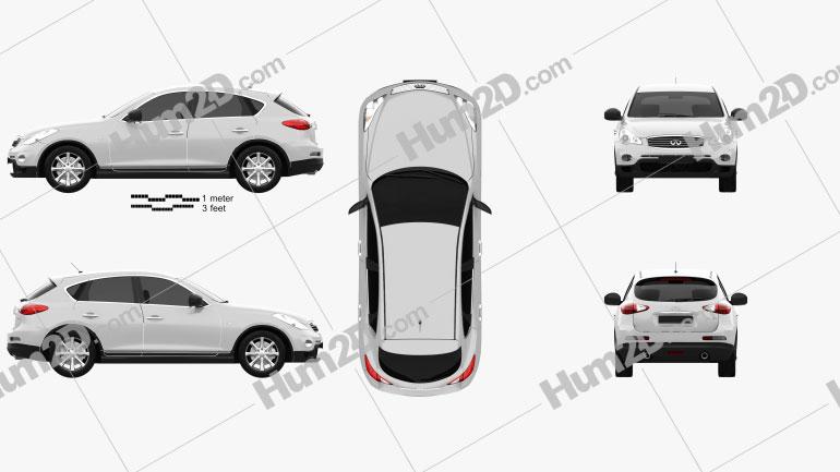 Infiniti QX50 (EX) 2009 car clipart