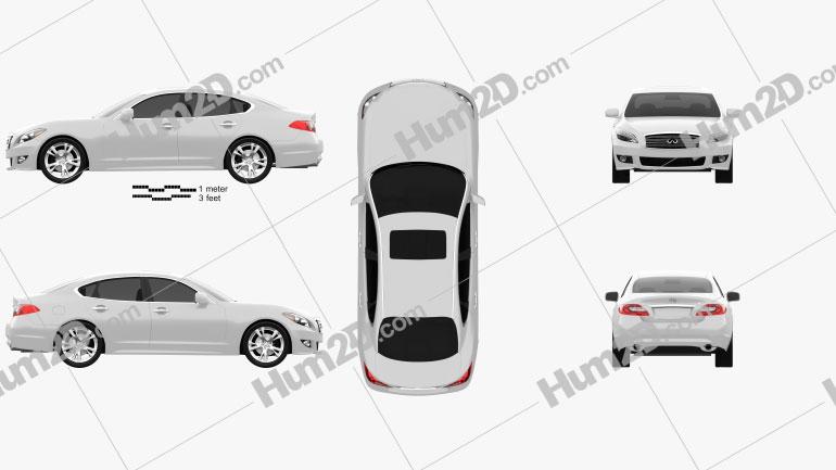 Infiniti M 2011 car clipart