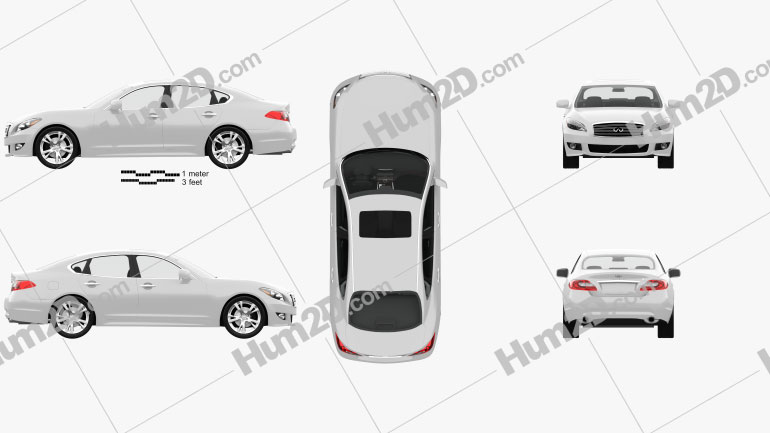 Infiniti Q70 (M) com interior HQ 2011 car clipart