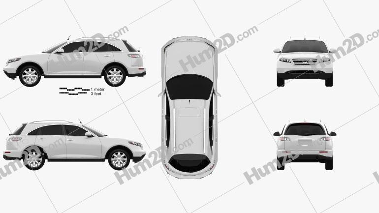 Infiniti FX 2003 car clipart