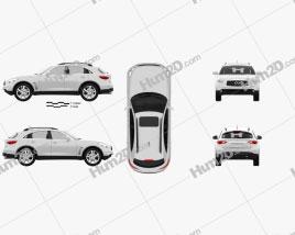 Infiniti QX70 (FX) 2012 car clipart