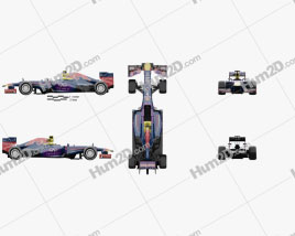 Infiniti RB9 Red Bull Racing F1 2013 car clipart