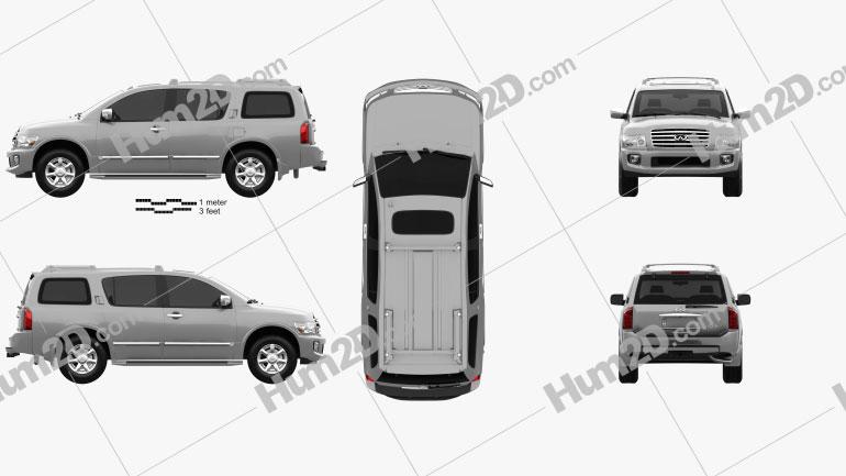 Infiniti QX56 (JA60) 2004 car clipart