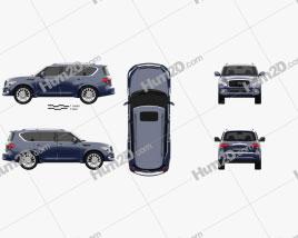 Infiniti QX80 2015 car clipart