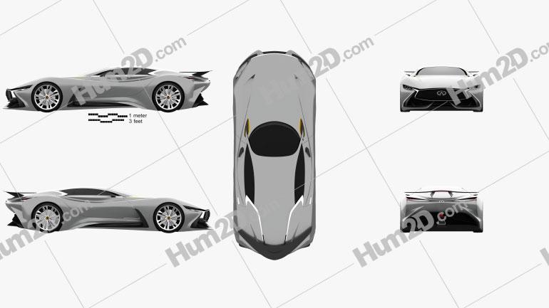 Infiniti Vision Gran Turismo 2014 car clipart