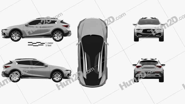 Infiniti QX30 Concept 2015 car clipart