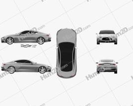 Infiniti Q60 Concept 2014 car clipart