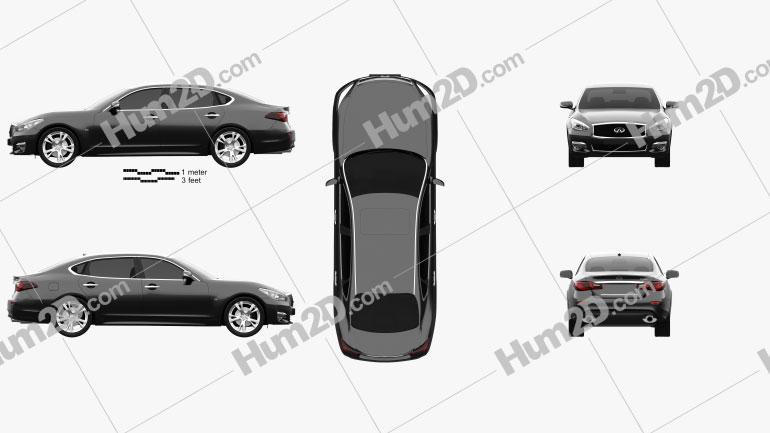 Infiniti Q70 L 2015 car clipart