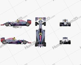 Infiniti RB11 F1 2015 car clipart