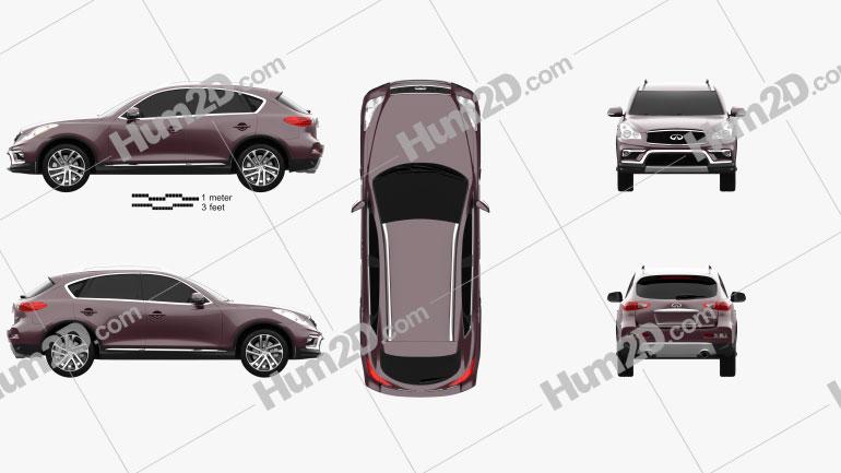 Infiniti QX50 2015 car clipart