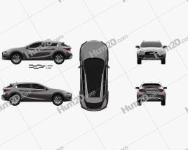 Infiniti QX30 2017 car clipart