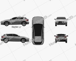Infiniti Q30 S 2015 car clipart