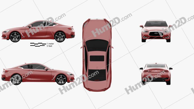 Infiniti Q60 S 2017 car clipart