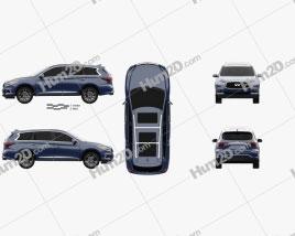 Infiniti QX60 2016 car clipart