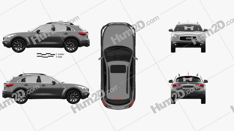 Infiniti QX70 S Ultimate 2015 car clipart