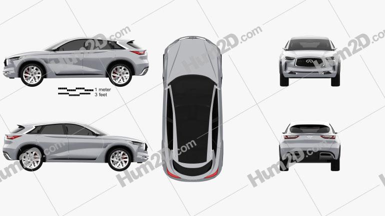 Infiniti QX Sport Inspiration 2016 car clipart