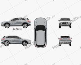 Infiniti QX 2016 car clipart