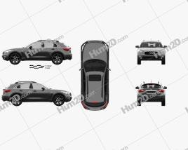Infiniti QX70 2017 car clipart