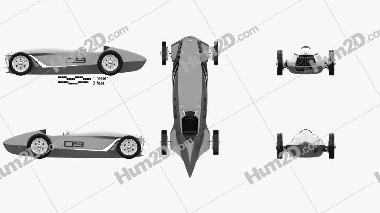 Infiniti Prototype 9 2017 car clipart