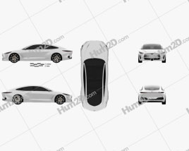Infiniti Q Inspiration 2018 car clipart