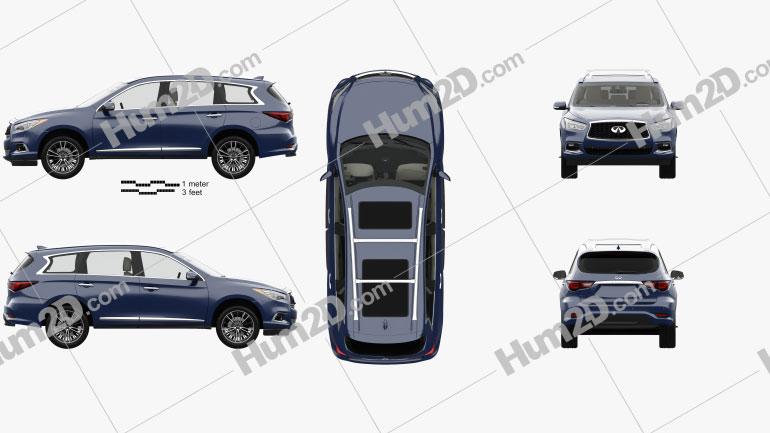 Infiniti QX60 with HQ interior 2016 car clipart