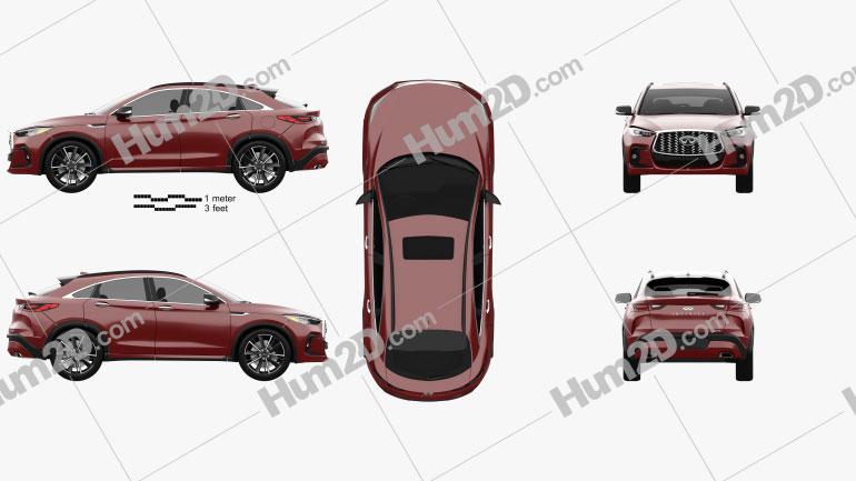 Infiniti QX55 US-spec 2021 car clipart