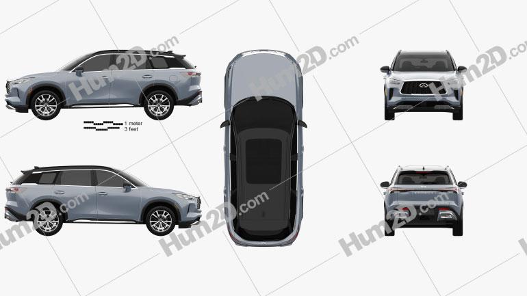 Infiniti QX60 2022 car clipart