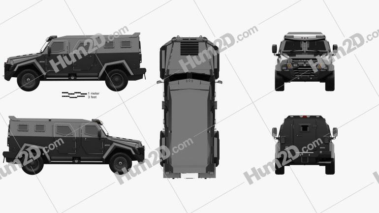 Inkas Sentry Civilian 2019 car clipart