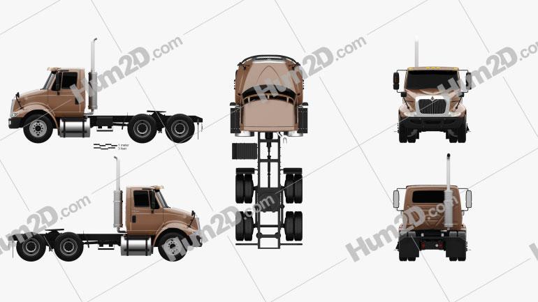 International Transtar Tractor Truck 2002 Clipart Image