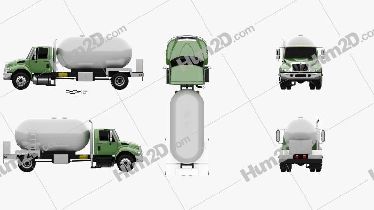 International Durastar Tanker Truck 2002 Clipart Image