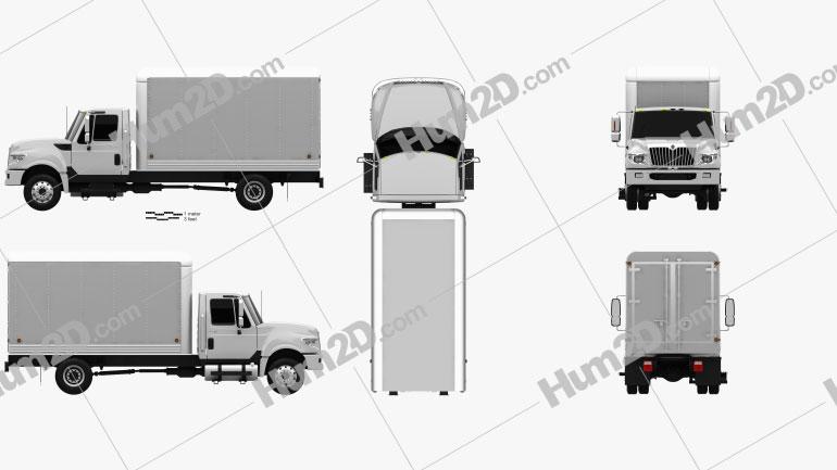 International Terrastar Box Truck 2010 Clipart Image