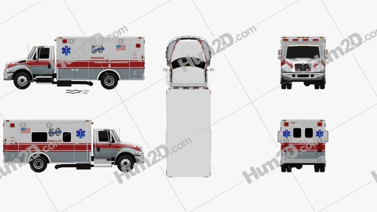International Durastar Krankenwagen 2002 clipart