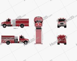 International Durastar Fire Truck 2002 clipart