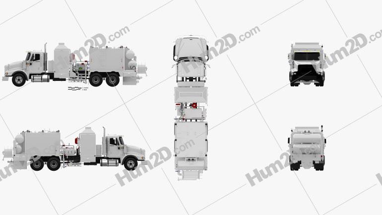 International Paystar Hot Oil Truck 2002 clipart